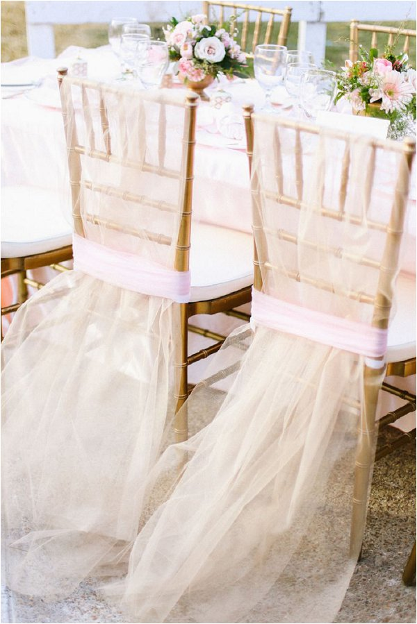 gold wedding chair decorations