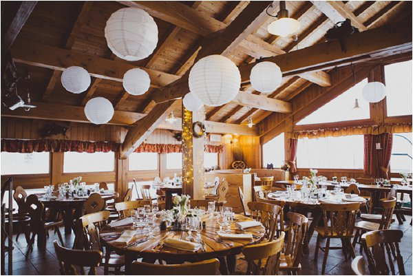 log cabin wedding reception