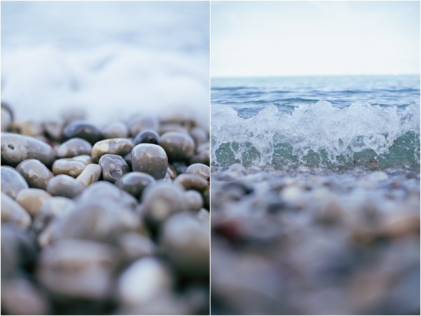 pebbles and sea