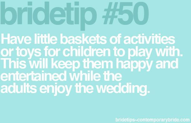 tip for children at weddings