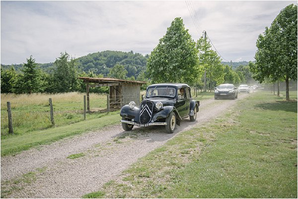 vintage wedding car auvergne