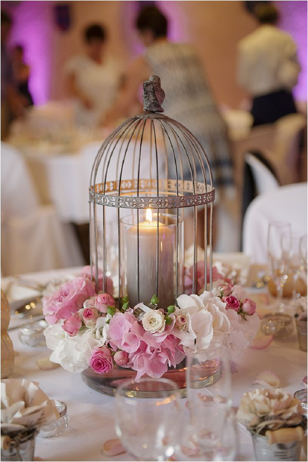 wedding candle birdcage