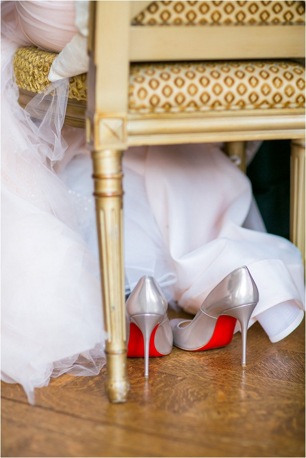 wedding day louboutins