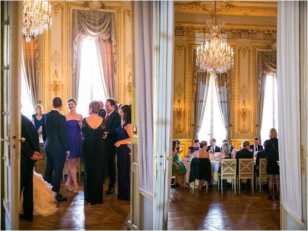 wedding guests in Paris