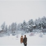 winter wedding in the French alpes