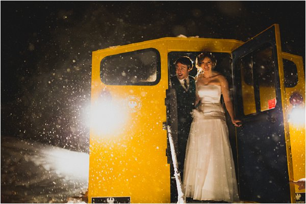 winter wedding tranport