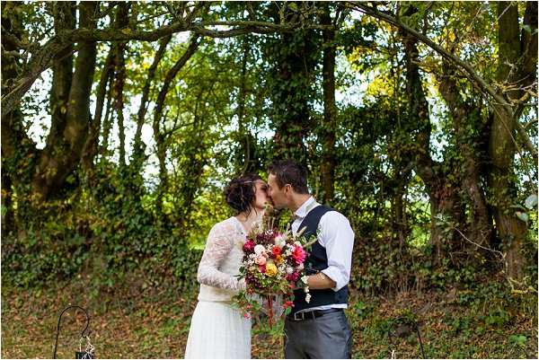 autumn wedding outdoors
