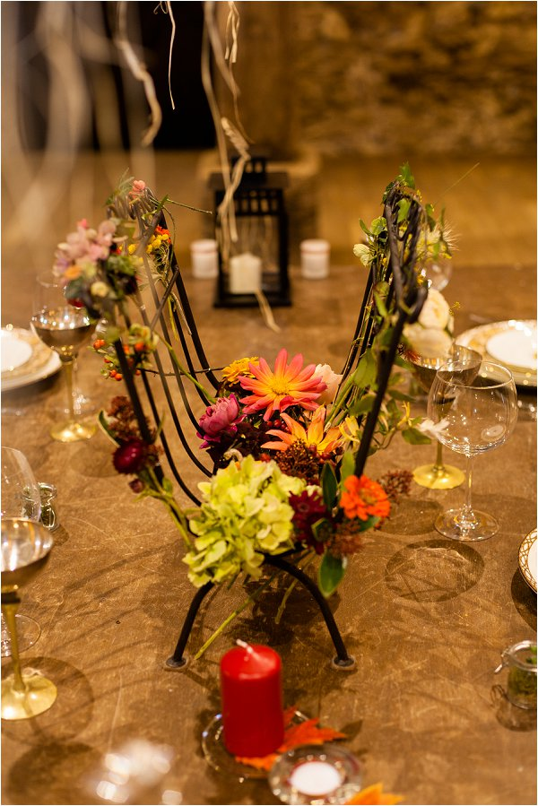 autumnal wedding decorations