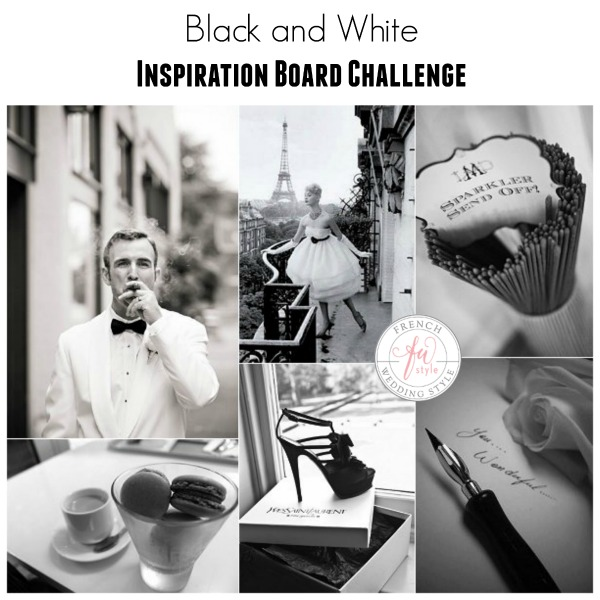 black and white inspiration board challenge