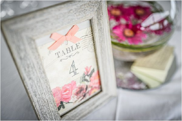 cute pink table number