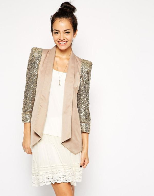 Gold jacket for weddings