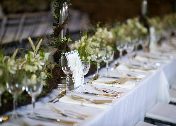 Woodland inspired home wedding in france barn wedding reception green and white wedding decor junglespirit Images