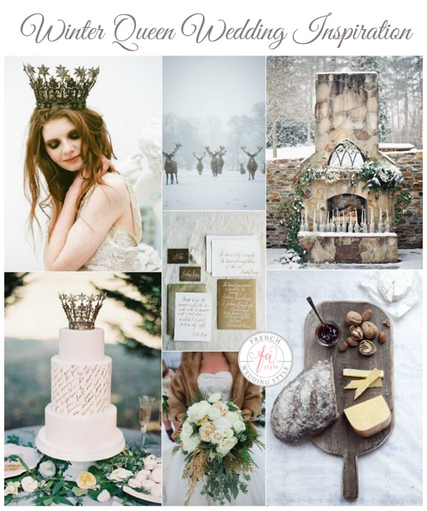 winter queen wedding inspiration