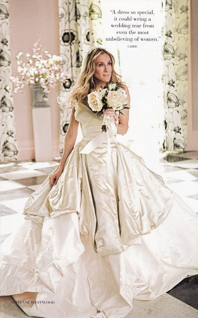 SATC wedding dress