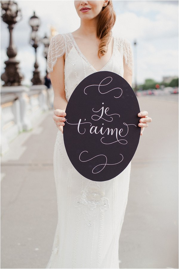 je t'aime sign