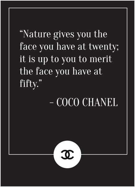 new year beauty - coco chanel quote