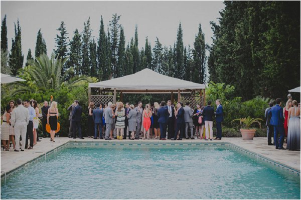 poolside wedding reception
