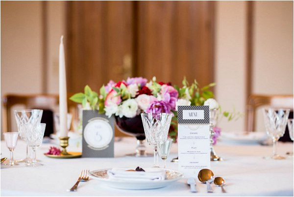 art deco wedding table
