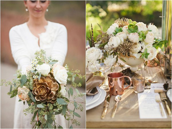 Metalic And Copper Wedding Inspiration