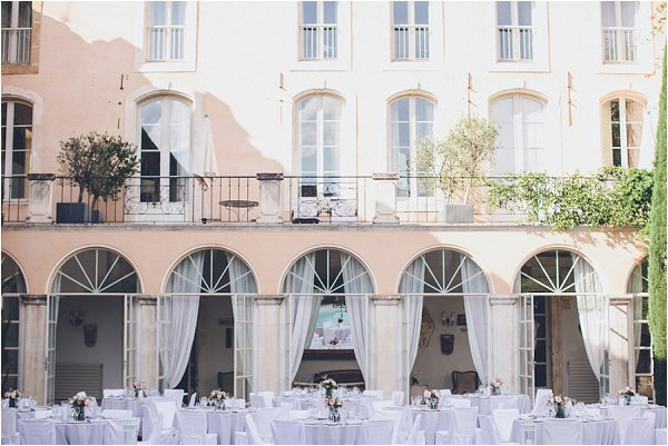 courtyard wedding reception