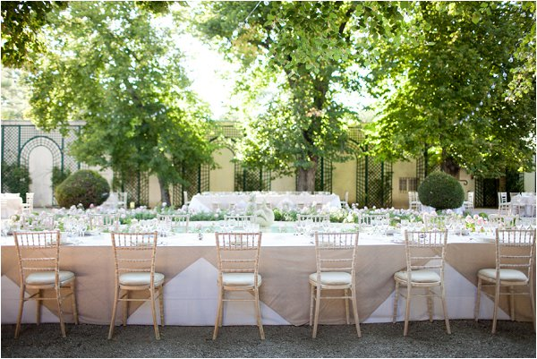 elegant outdoor wedding breakfast