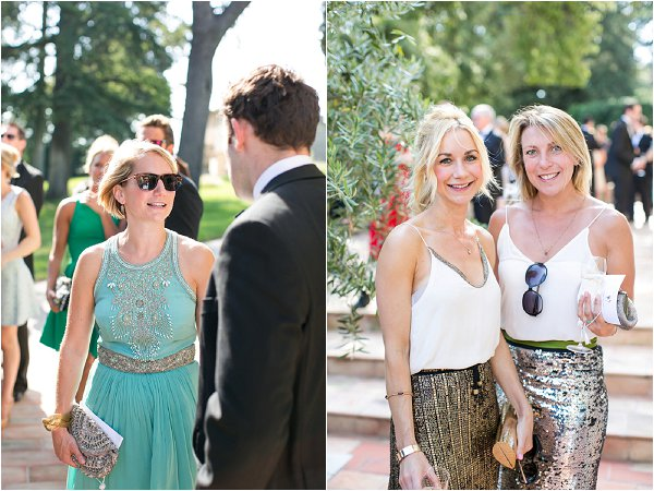 glam wedding guests