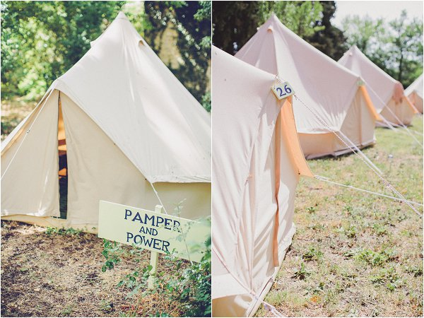 glamping at weddings