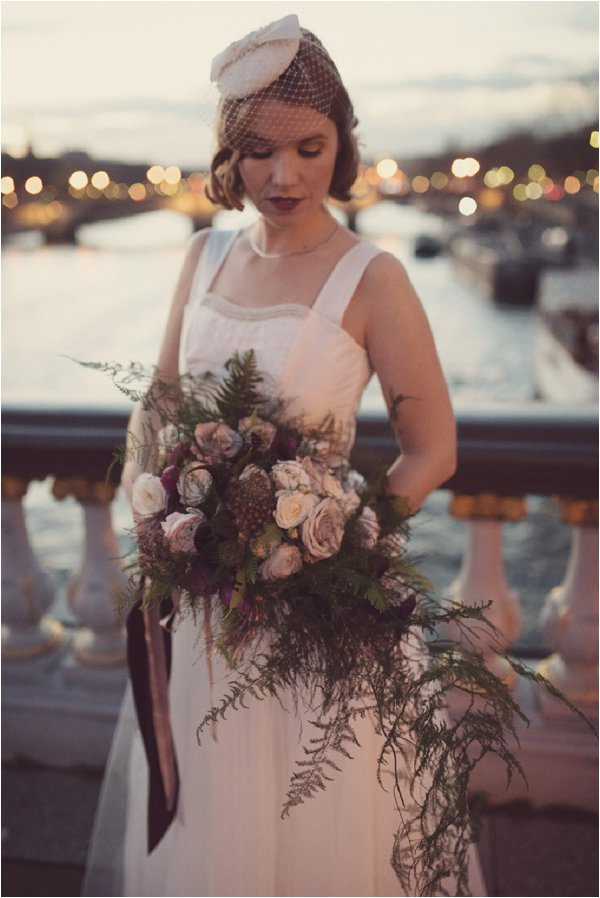 Lilac vintage inspired wedding bouquet