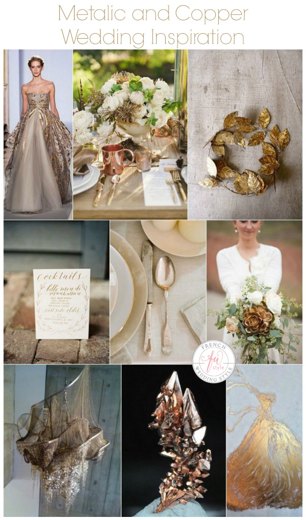 metalic and copper wedding inspiration sml