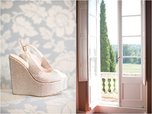 metalic bridal wedges