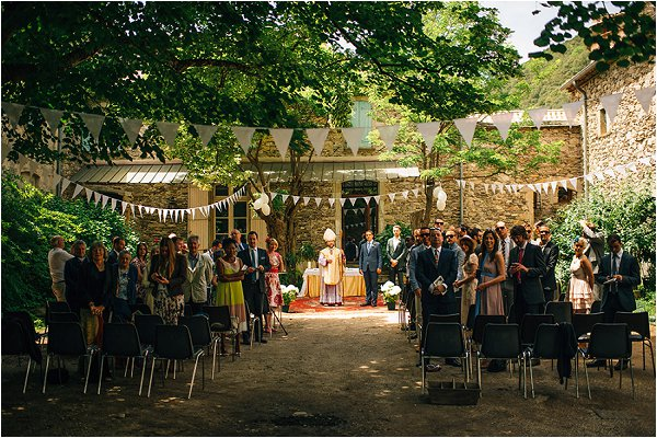 outdoor wedding in France