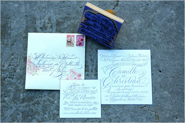 rubber stamp invitation sets