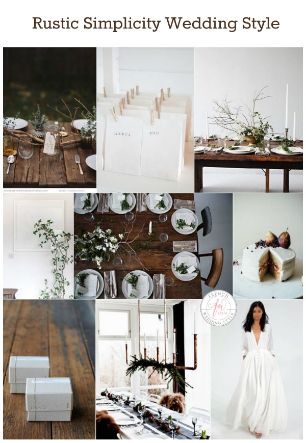 rustic simplicity wedding style