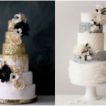 sequin wedding cakes