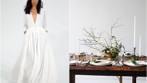 simple fine art wedding style
