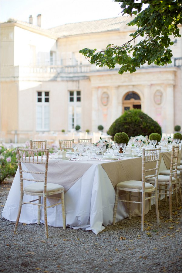 white and cream wedding tables