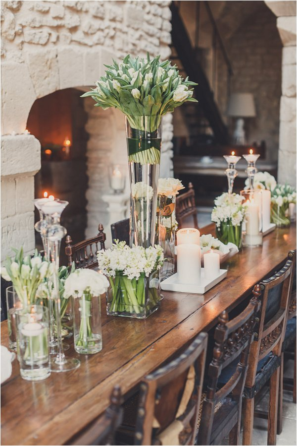 winter wedding table