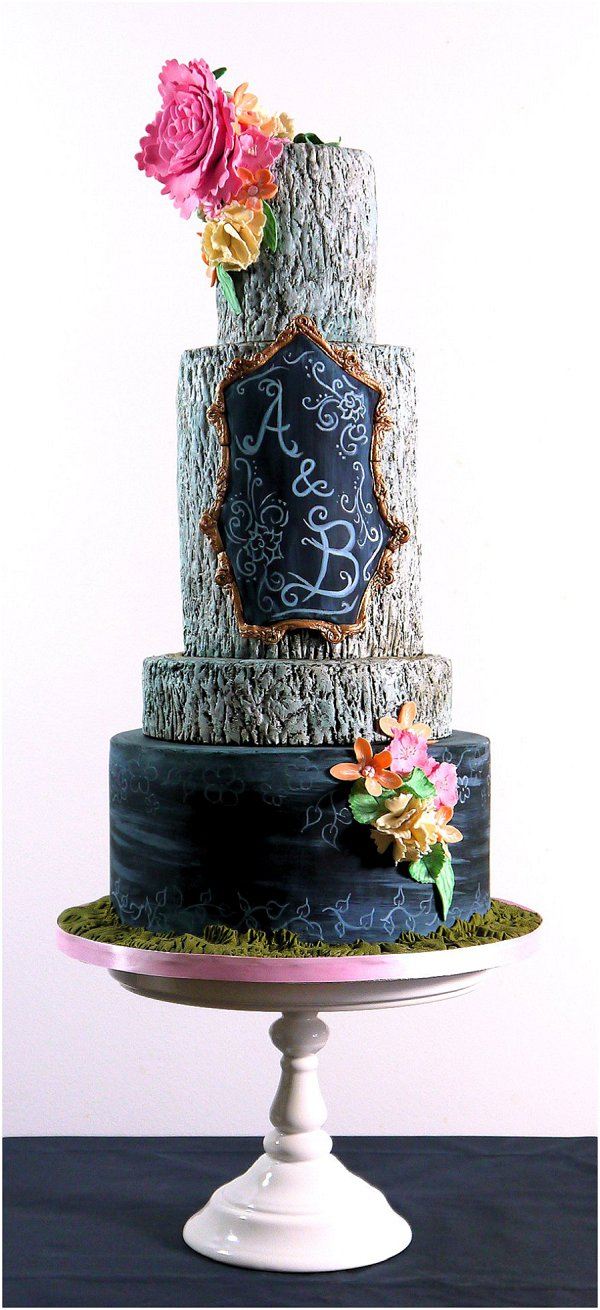 2015 wedding cake Collection 4_Rustic Chalk
