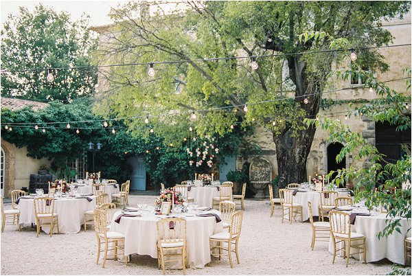 Outdoor Wedding Venues: Intimate Wedding At Chateau De Robernier Provence