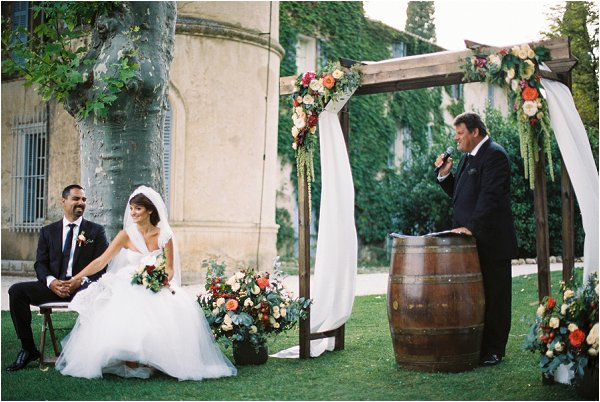 Outdoor Woods Wedding Ceremony: Intimate Wedding At Chateau De Robernier Provence