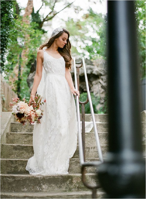 Elise Hameau bohemian wedding dress