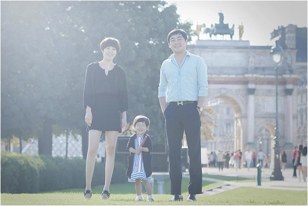Family visit to Paris