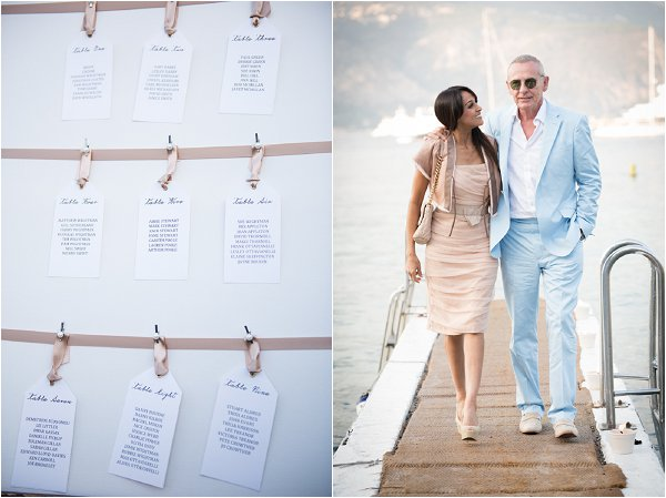 French Riviera style wedding