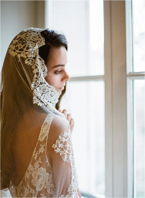 Paris lace wedding veil