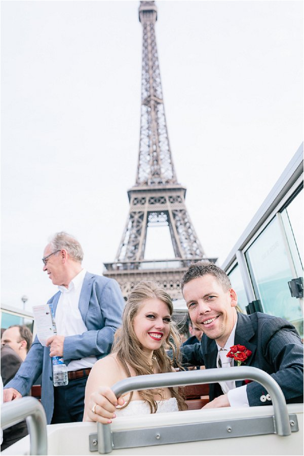 Paris tour bus wedding