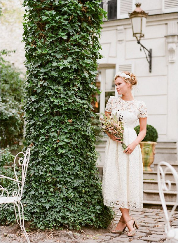 Short Paris wedding dress