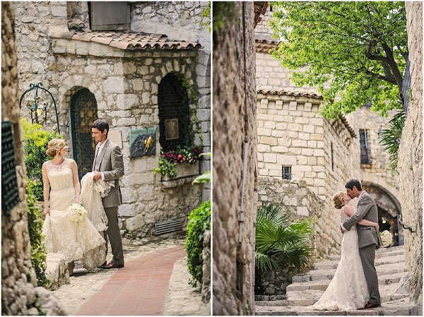 timeless wedding in eze south of france
