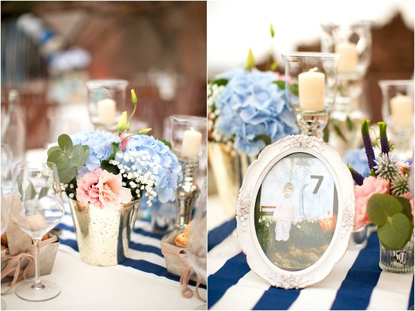 blue white table ideas