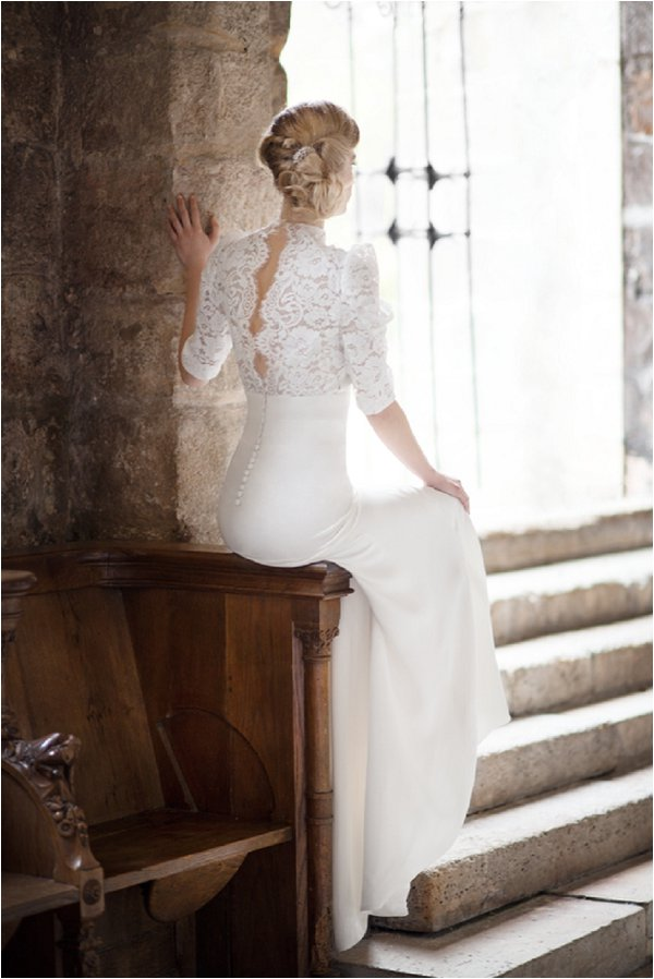 couture vintage wedding dress