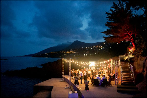 evening wedding French Riviera